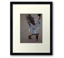 Aztec Dancer III - Bailarina Azteca Framed Print