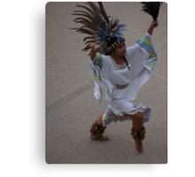 Aztec Dancer III - Bailarina Azteca Canvas Print