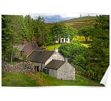 Cottages in the Trees Poster