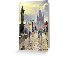 Prague Charles Bridge 02 Greeting Card
