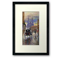 Prague Old Town Square Old Cab Framed Print