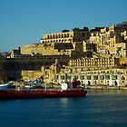 Malta From Sea by Jeannie  Mazur
