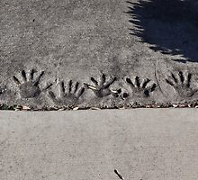 Handprints in the path of life by vigor