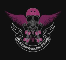 Gladstone Roller Derby League Black Tee by squeakharlequin