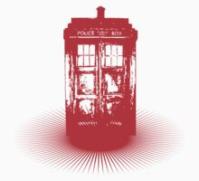 red tardis by ihsbsllc