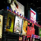 Lights on Times Square  by John  Kapusta