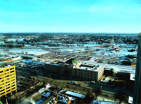 Winnipeg from Above in the Winter by Larry Trupp