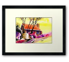 Red House Framed Print