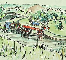 Canal Boats by Lynne  Kirby