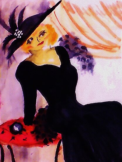 Mae West, watercolor by Anna  Lewis