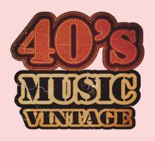 40's Music Vintage T-Shirt Kids Clothes