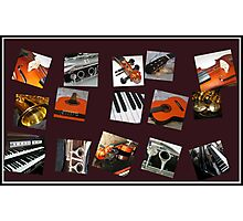 The Crazy Music Collage Photographic Print