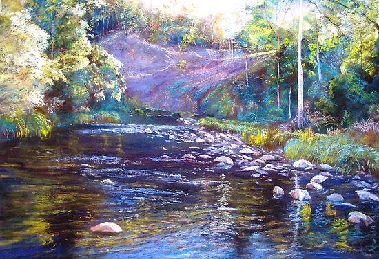 Rocks & Ripples - Howqua River by Lynda Robinson