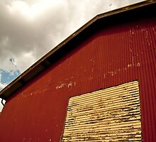The Red Shearing Shed by Phoebe Kerin