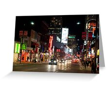 Downtown Yonge Street From North of Walton Greeting Card