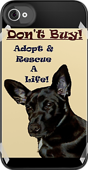 Don&#x27;t Buy! Adopt &amp; Rescue A Life! Dog iPhone &amp; iPod Cases  by Patricia Barmatz