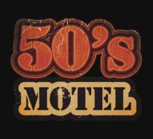 Vintage 50's Motel - T-Shirt by Nhan Ngo