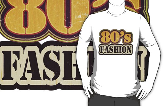 Vintage 80's Fashion - T-Shirt by Nhan Ngo