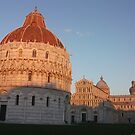 Baptistry, Church and Tower of Pisa by Jessica Fittock