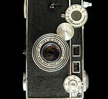 Vintage rangefinder camera by woodnimages