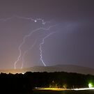 Lightning over residential area of Ljubljana by Ian Middleton