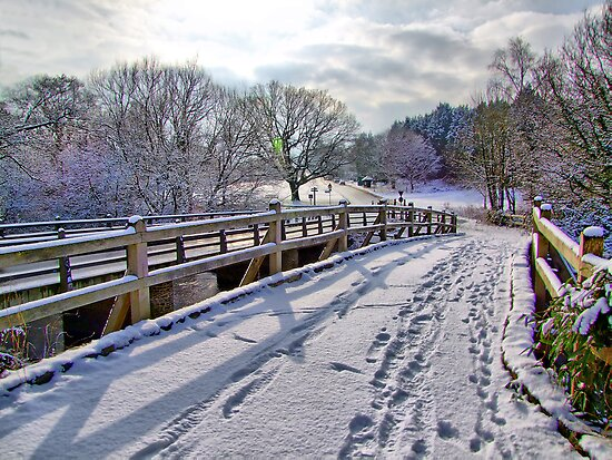 Footprints On The Bridge - HDR by Colin J Williams Photography