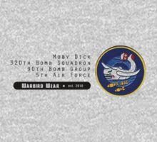 Moby Dick - 320th SQ - 90th BG - 5th AF    Emblem (Black) by warbirdwear