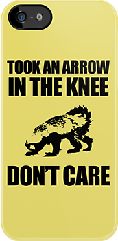 Arrow In The Knee - Honey Badger Don't Care by jezkemp