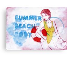 Beach Body Canvas Print