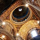 St Peter`s Basilica - Side Dome by John Dalkin