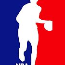 NBA MLG Red and Blue iPhone Case by TalkThatTalk