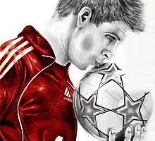 Liverpool's Steven Gerrard by JEMMA GULSHER