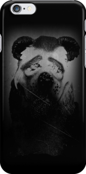 Fear Bear phone case by Margaret Bryant