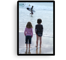 """""""Life is good at the beach!"""" Canvas Print"""