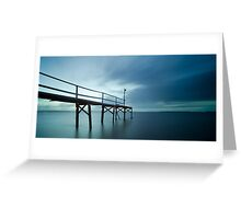 Morning Blue - Cleveland Qld Australia Greeting Card