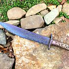 Blue Bowie Knife From Arkansas -- The Bowie Knife State by PaulCoover