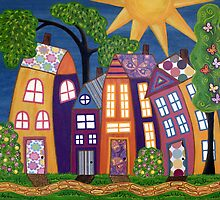 Happy Town ~ Everyone should live in one. by Lisa Frances Judd ~ Original Australian Art