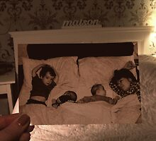 Brother, twin, me, mum - After 5 weeks of intensive care  by emferrari