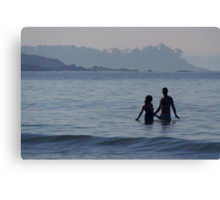 Couple in the Sea Palolem Canvas Print