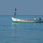 Boat in Palolem Bay by SerenaB