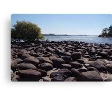 Boulders at Palolem Beach Canvas Print