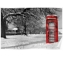 Phone Box on The Village Green Poster