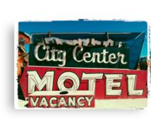 City Center Neon Canvas Print