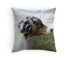 Australian Shepherd Profile Throw Pillow