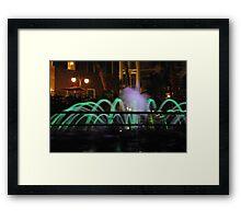 Amazing Fountain Framed Print