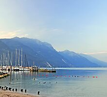 Lake Garda, early morning by Finbarr Reilly