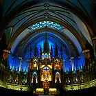 Montreal Notre Dame Basilica - Vieux Montreal by Kathryn  Young