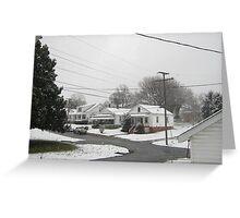 Feb. 19 2012 Snowstorm  Greeting Card