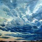 'evening cloud study over ringwood' by andrea v