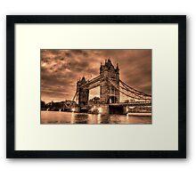 Tower Bridge Sepia Framed Print